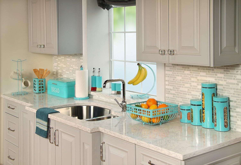 Home Basics Trinity Turquoise Cutlery Holder