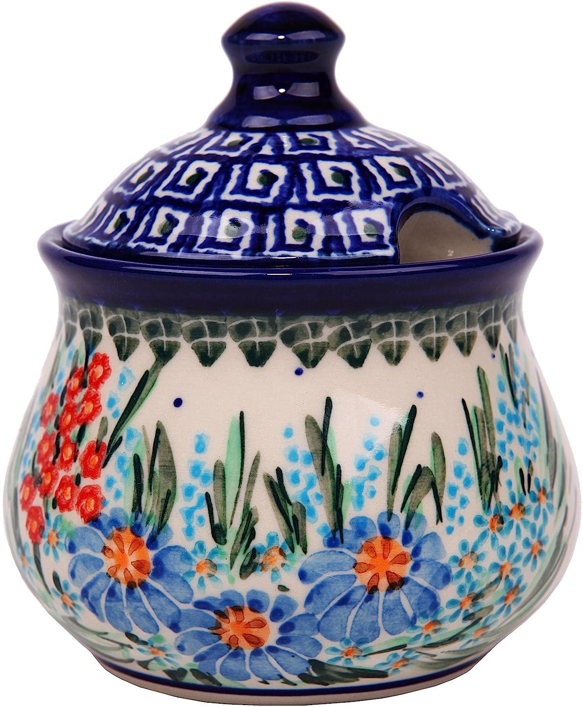 Polish Pottery Ceramika Boleslawiec 0051/169 Sugar Bowl Iza, 1-Cup