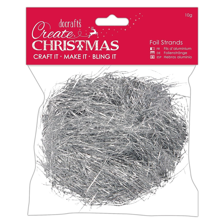 docrafts Create Christmas Foil Strands - Silver PMA 161901