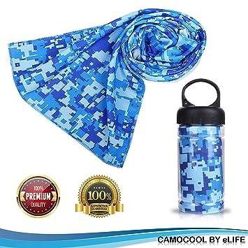 Micro Cable de refrigeración toalla de Fitness (W/deportes bottle| deportes toallas para