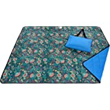 Roebury Picnic Blanket - Water-Resistant Outdoor Blanket - Large, Oversized Sandproof Beach Mat for Travel or Camping. Folds into an Easy Carry Compact Tote Bag