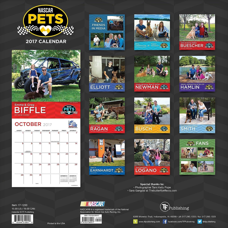 Amazon.com : 2017 Calendars TF Publishing Wall Calendar, Nascar Pets :  Office Products