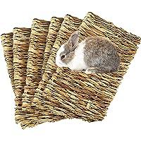 Meric Rabbit Grass Mats, Edible Handwoven Seagrass Floor Pads and Multipurpose Toys, Protects Sensitive Feet, 6 Pcs Per…
