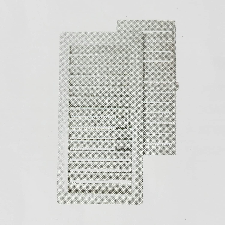 Montserrat 01761 Rejilla Ventilació n PVC con Marco y Cierre Mó vil, Blanco, 9.5 x 22 cm, Set de 4 Piezas CIS