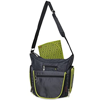45c48f620e24 Fisher Price Fastfinder Quick Trip Tote Diaper Bag - Green/Grey