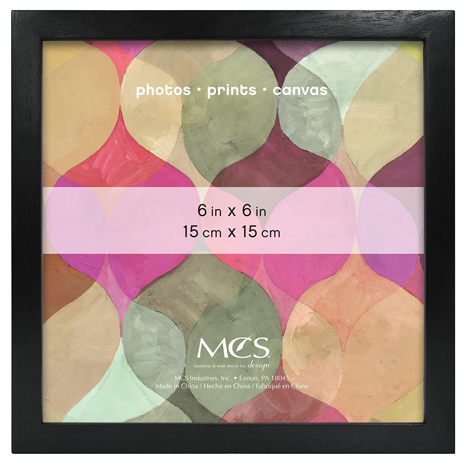 Amazon.com: MCS 6x6 Inch Art Frame, Black (47557): Home & Kitchen