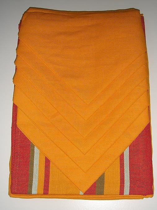 barbacado – Mantel Naranja 180 x 140 cm con camino de mesa de ...
