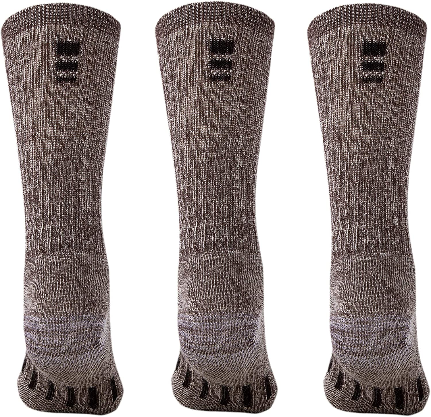 3 Pairs Midweight Cushioned Warm n Breathable MERIWOOL Merino Wool Hiking Socks for Men and Women