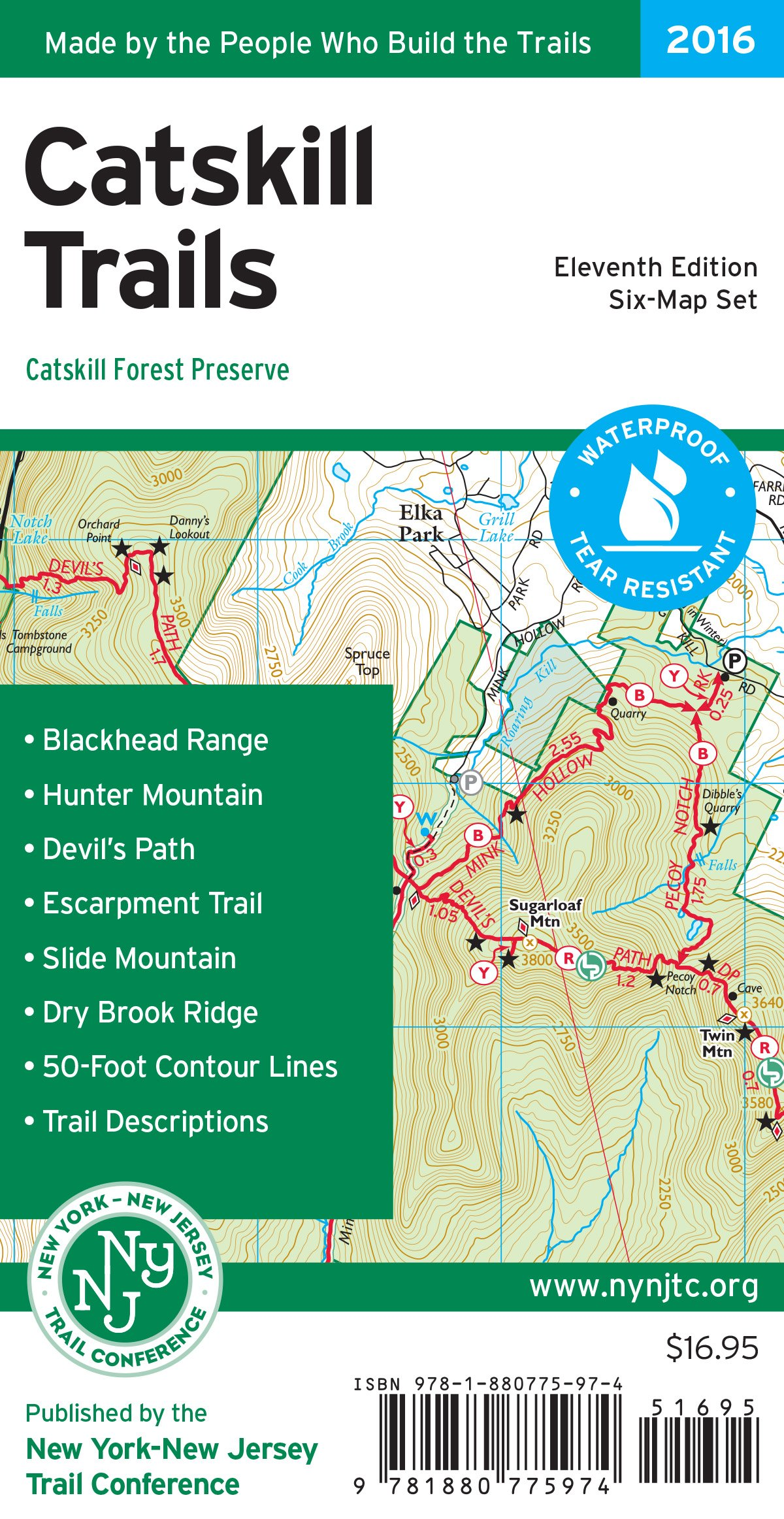 Catskill Trails Map Catskill Forest Preserve New York,New