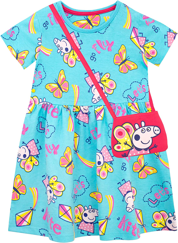 Peppa Pig Girls Dress and Bag Set