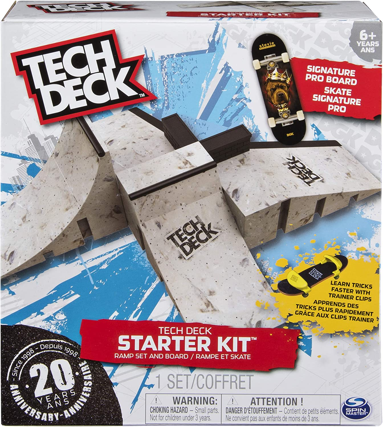 Ramp Set with Signature Pro Board and Trainer Clips New Tech Deck Starter Kit