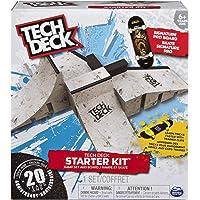 Tech Deck - Kit de iniciación con pinzas para tabla y entrenador con innumerables combinaciones de diseños, multicolor