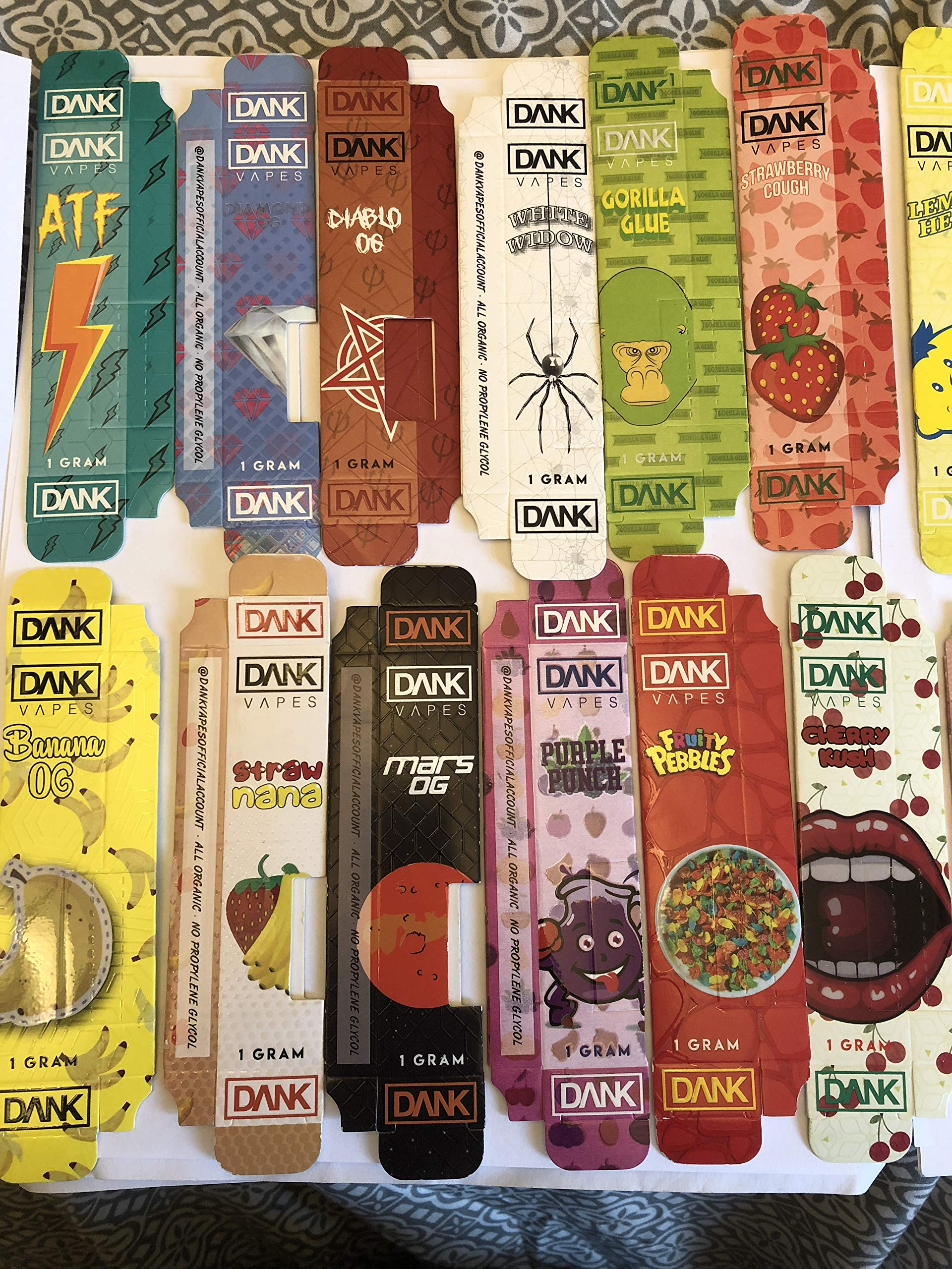 Dank Vape Packaging - 250pcs for $69.99 - EMPTY PACKAGING - 41 Flavors by CV Supplies (Image #3)