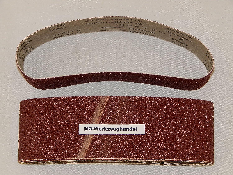 10 St/ück Gewebe-Schleifb/änder 75 x 533 mm Korn 40 f/ür Bandschleifer