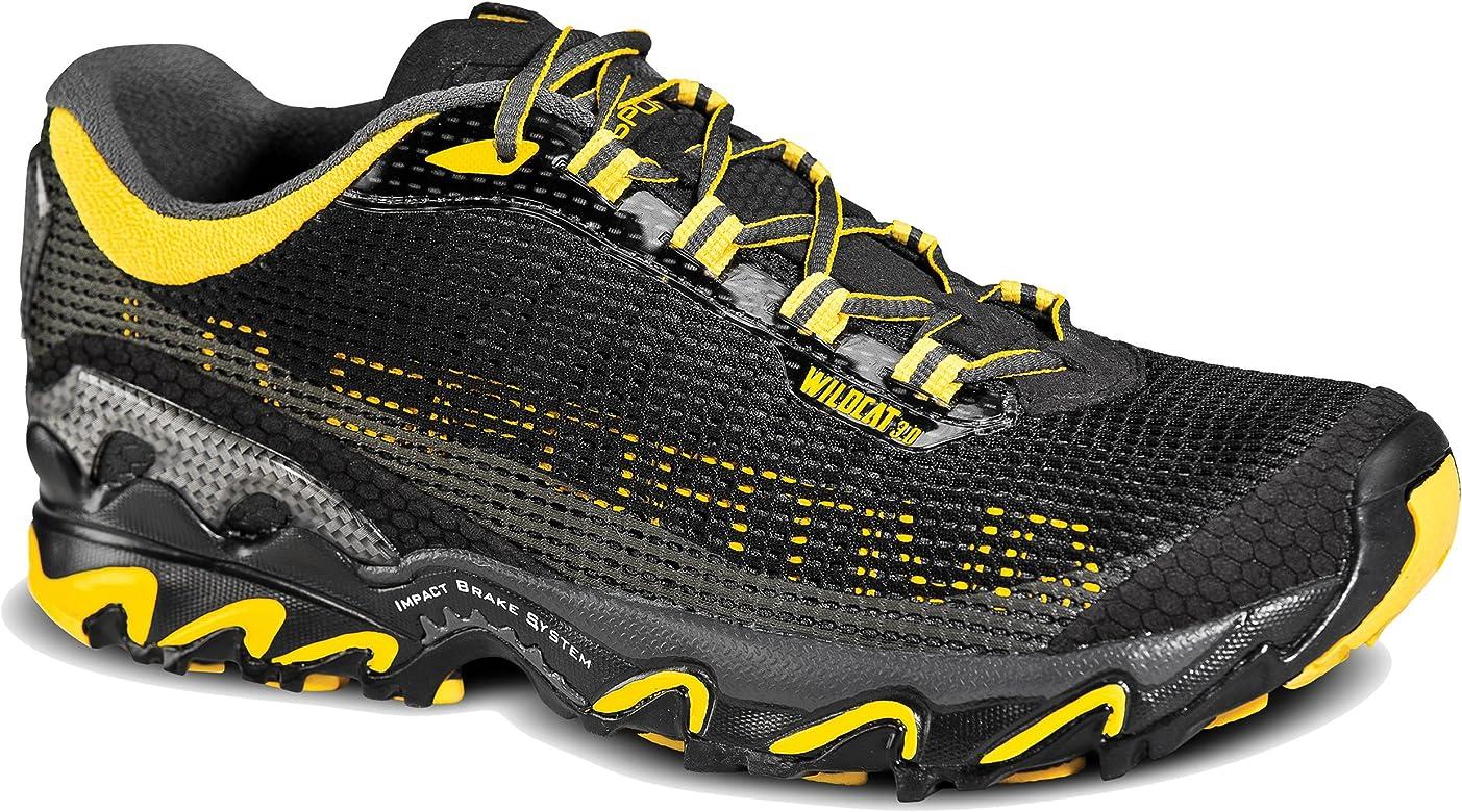 La Sportiva Wildcat 3.0 - Zapatillas de Running para Hombre, Negro (Negro/Amarillo), 42 M EU: Amazon.es: Zapatos y complementos