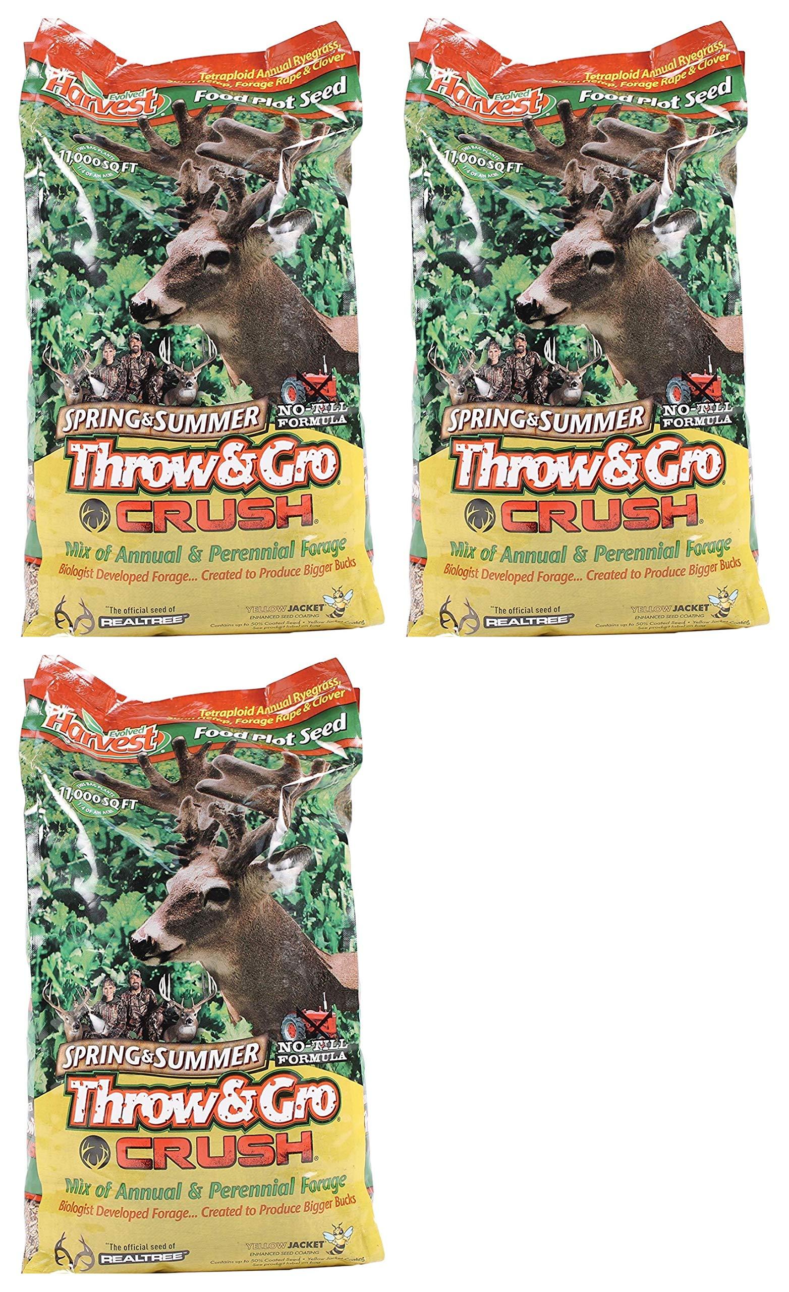 Evolved Harvest Throw & GRO Spring Crush Deer Food Plot Seed (Тhrее Расk)