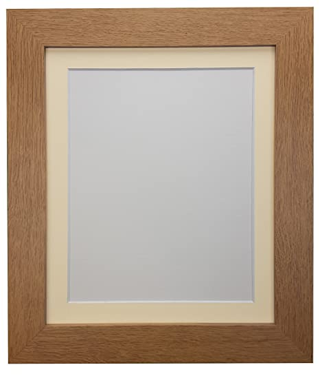 Frames By Post Metro Oak Frame With Ivory Mount 20 X 16 For Image