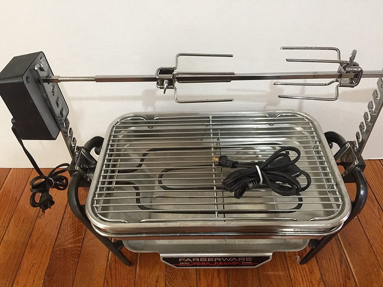 Vintage Faberware Rotisserie Grill Indoor Hearth Broiler INCOMPLETE 455N-455ND