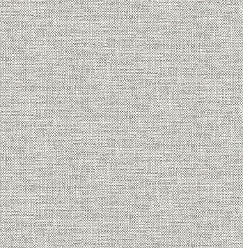 Nuwallpaper Nu2873 Poplin Texture Grey Peel And Stick Wallpaper Amazon Com