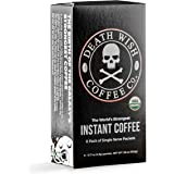 DEATH WISH COFFEE Instant Coffee Sticks [8 packs of single-serve packets | 4.9 g | 300mg of Caffeine] The World's Strongest C