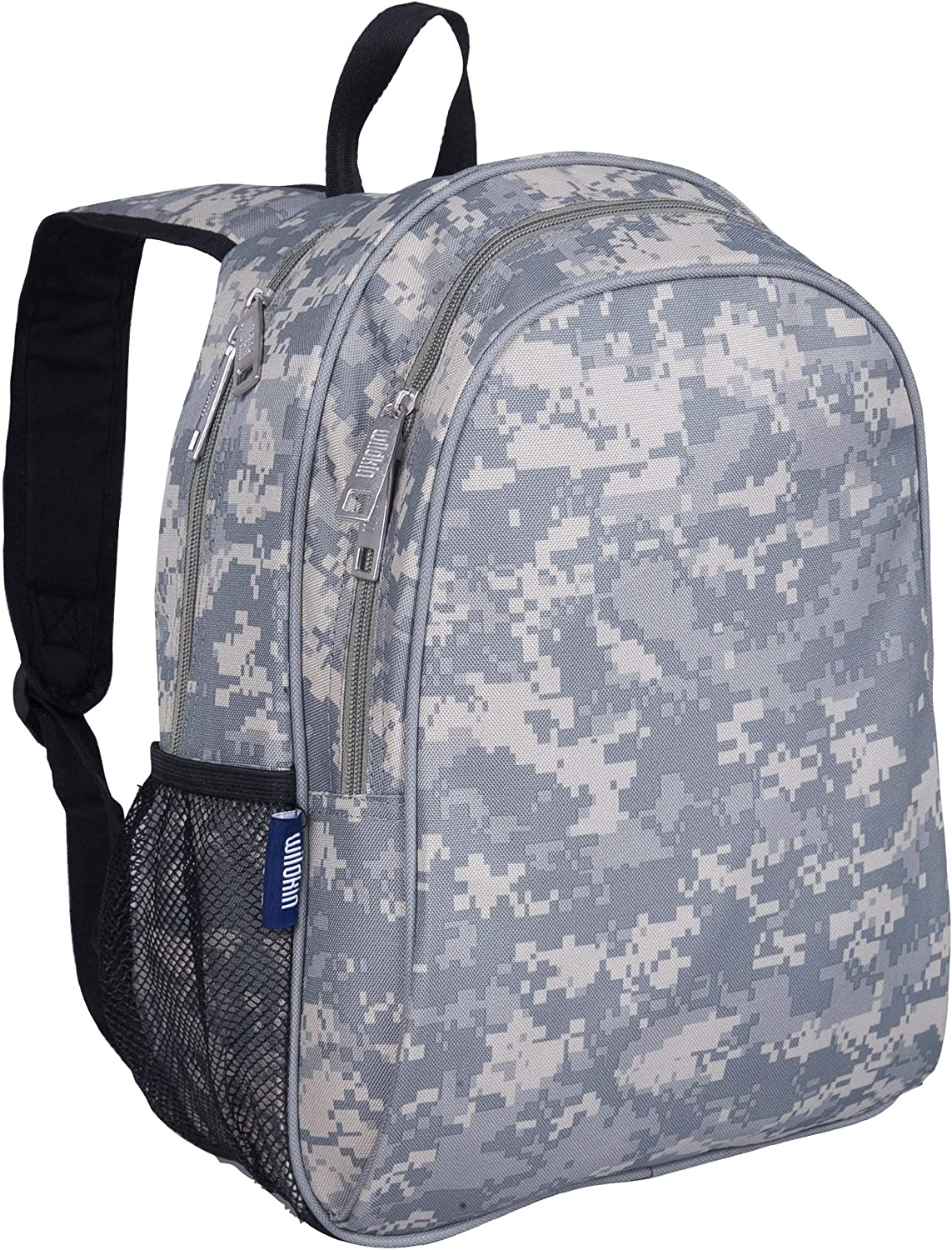 Wildkin Kids 15 Inch Backpack for Boys and Girls, Perfect Size for Preschool, Kindergarten and Elementary School, 600-Denier Polyester Fabric Backpacks, BPA-free (Digital Camo)