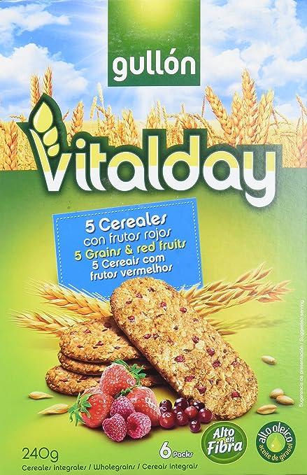 Gullón Vitalday Frutos Rojos Galleta Desayuno y Merienda - Paquete de 6 x 40 gr -