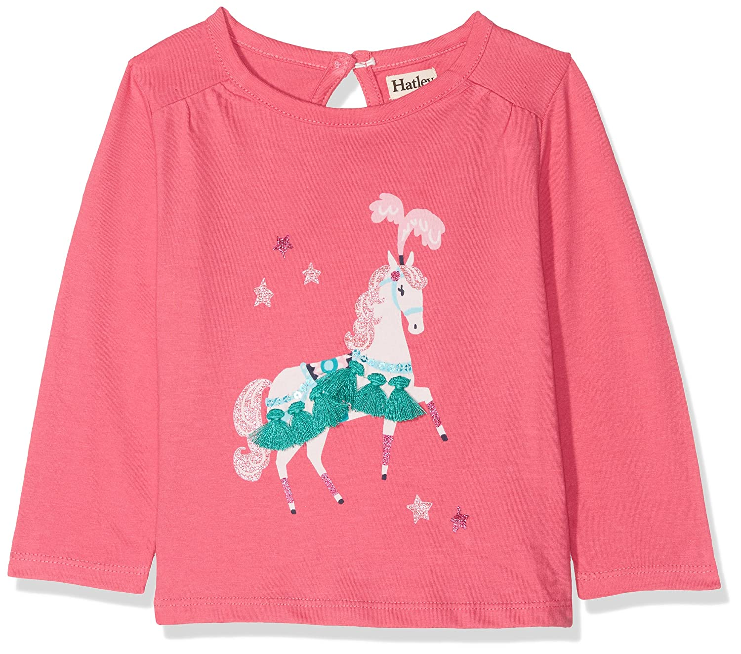 Hatley Baby Girls' Mini Long Sleeve Graphic Tees Longsleeve T-Shirt Grey (Parade Horse) 12-18 Months TSGRUBY207