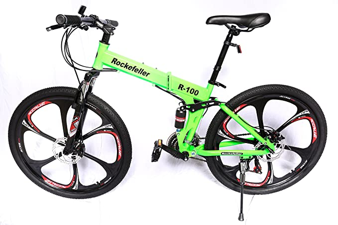 Amazon.com : Land Rover Rockefeller Folding Mountain Bike (black) : Sports & Outdoors