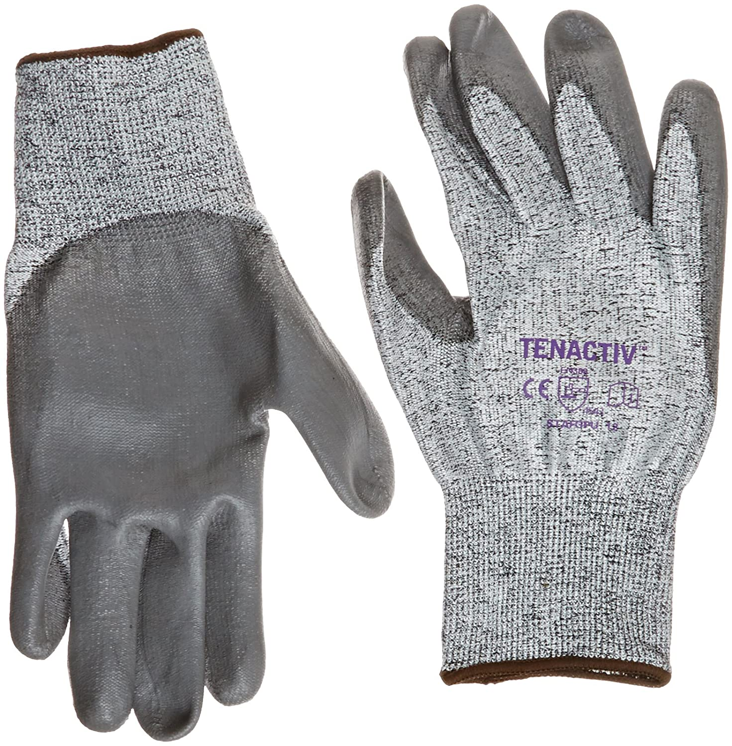 Cut-Resistant Size 12 13-gauge Thickness Speckled-Gray Pack of 1 Pair Superior Glove Works STAFGPU Tenactiv Fibers//Fiberglass High Perform Glove with Polyurethane Palm