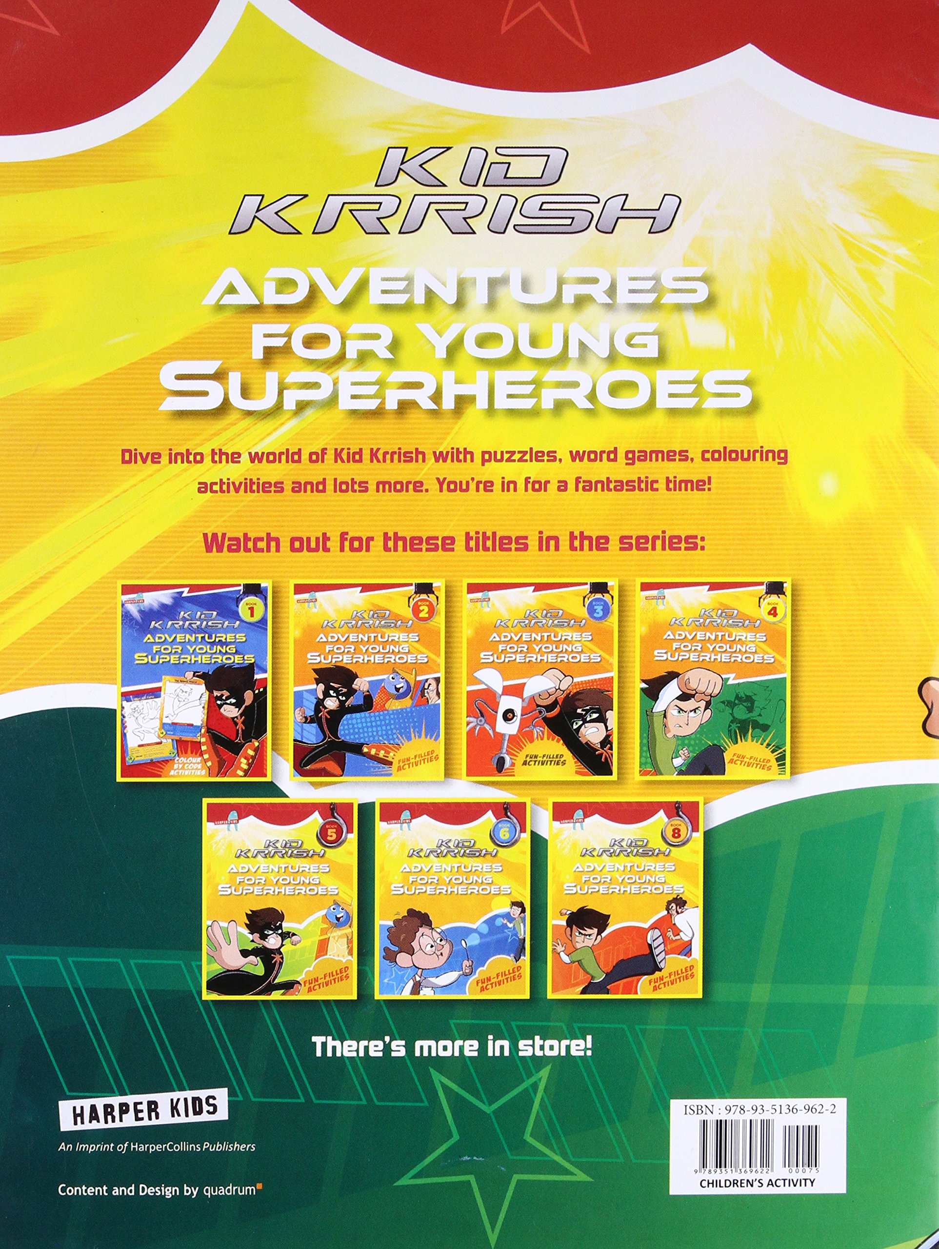 Amazon Kid Krrish Fun Filled Activities Book 7 Adventures For Young Superheroes 9789351369622 HarperCollins Publishers India Books
