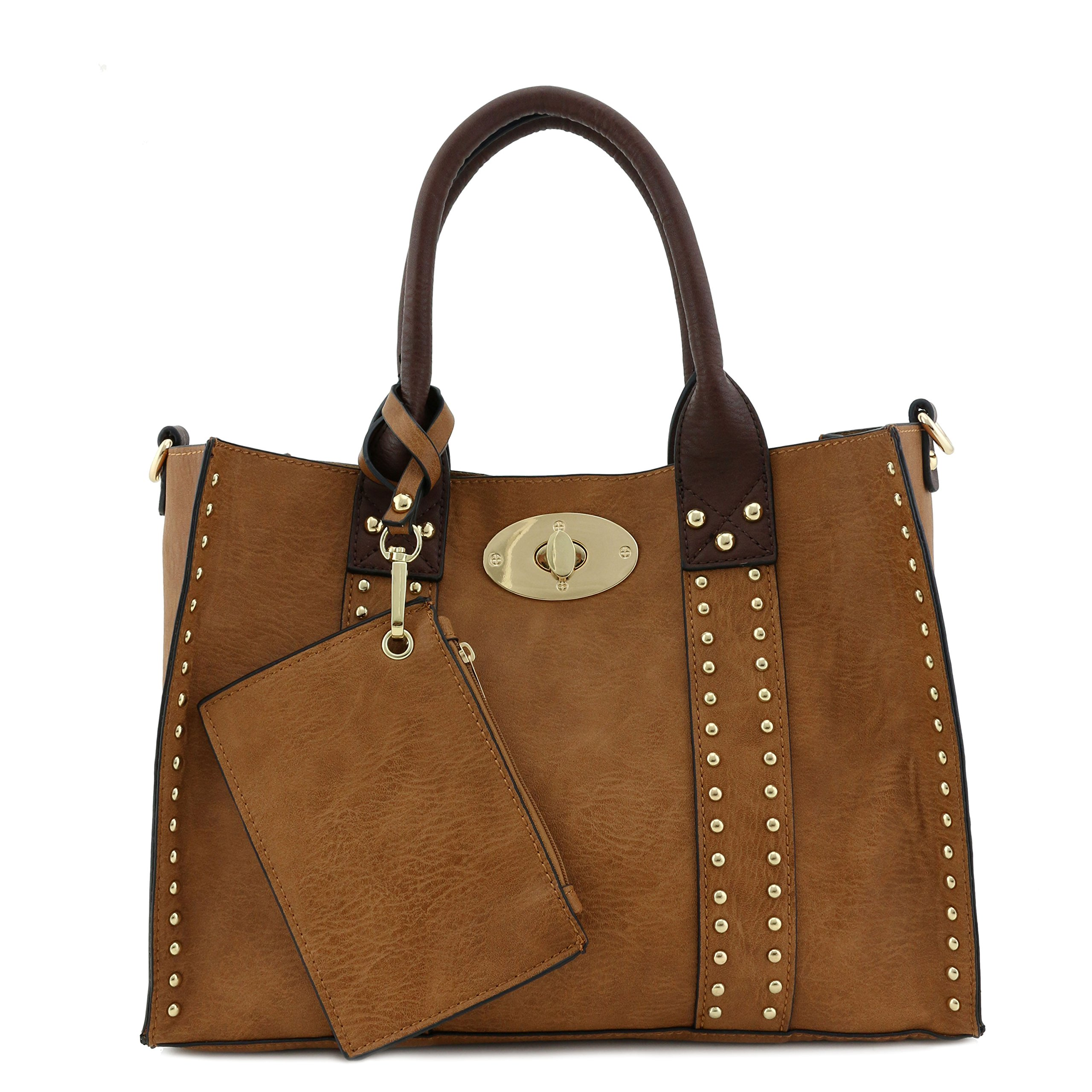 477389231 Brown Leather Crossbody Tote Bag | Stanford Center for Opportunity ...
