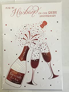 40th Ruby Wedding Anniversary Husband Card For My On Our
