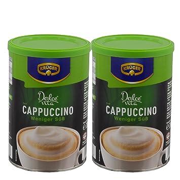 Krüger Dolce Vita capuchino, menos dulce, Café con leche, Café con leche de löslichem granos de café, 2 x 200 g: Amazon.es: Hogar