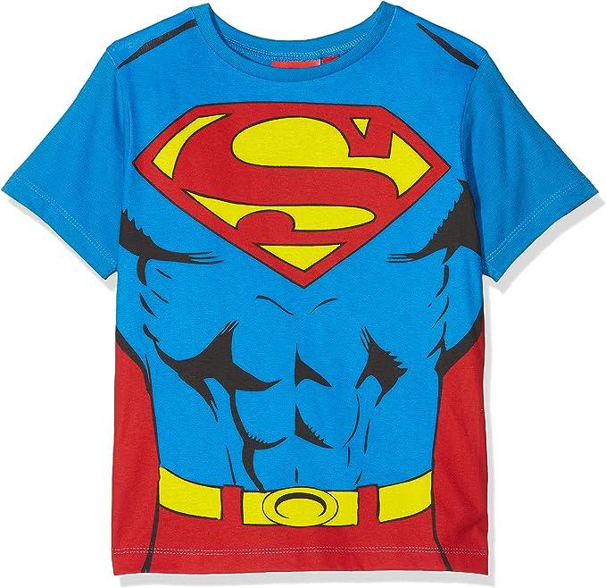 Dc Comics Boy S Superman Cape T Shirt Blue 8 Years Amazon Co Uk Clothing