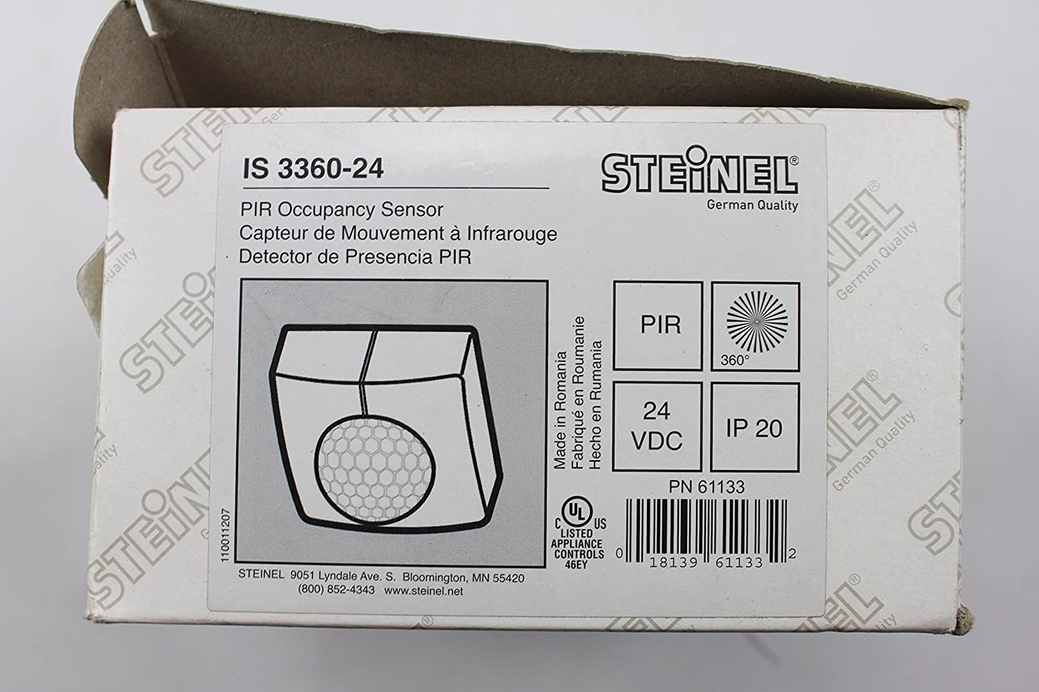 Amazon steinel is 3360 24 ceiling mount occupancy sensor amazon steinel is 3360 24 ceiling mount occupancy sensor motion detector 24v pir 360 deg coverage white home improvement sciox Image collections
