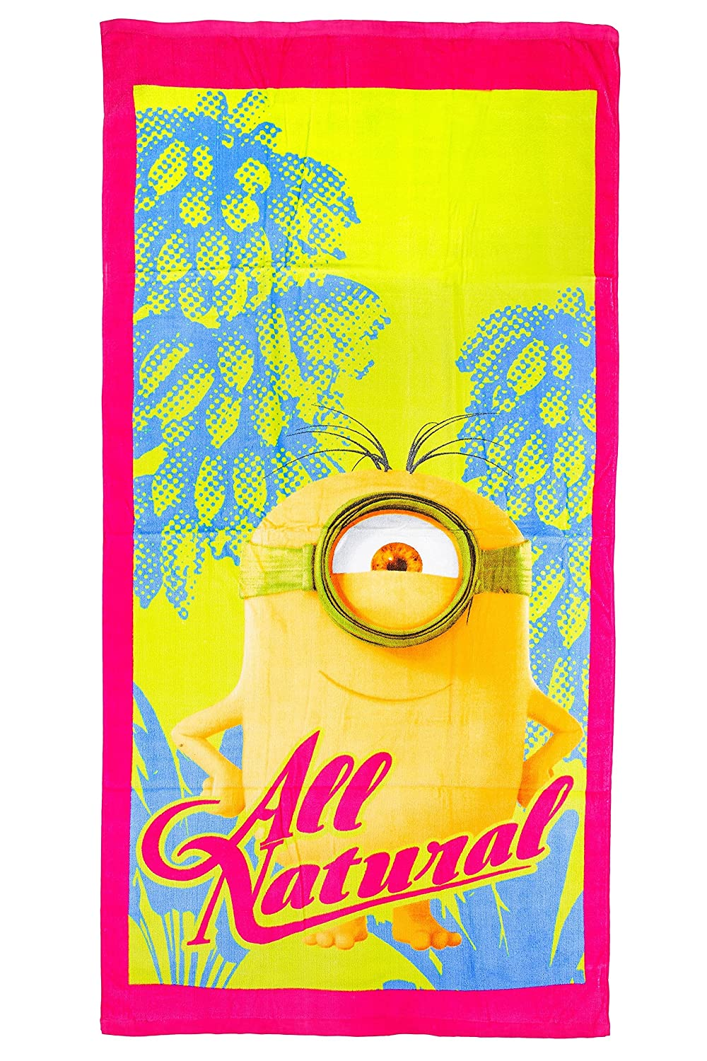 'Minions – All Natural Beach/Bath Towel 70 x 140 cm, Original Licensed Product 444039STMN