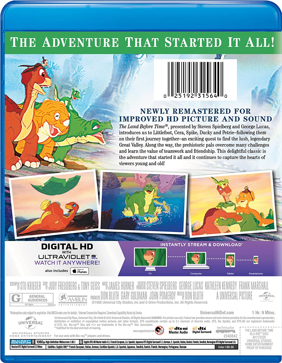 amazon com the land before time blu ray helen shaver candace