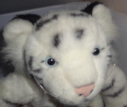 Amazon Com Build A Bear Workshop White Tiger Stuffed Animal 14 In