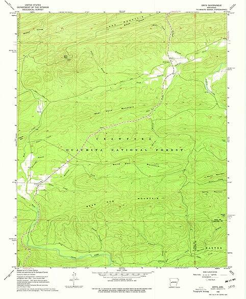 Amazon.com: Arkansas Maps | 1968 Onyx, AR USGS Historical ...
