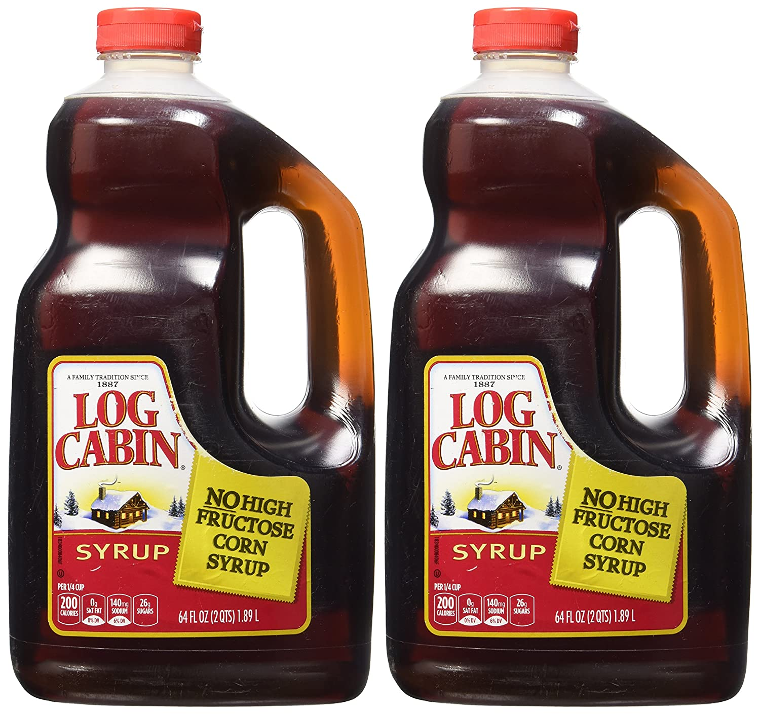 Log Cabin Original Syrup, 128 Ounces (Pack of 2)