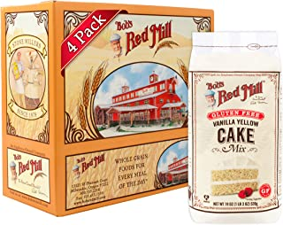 product image for Bob's Red Mill Gluten Free Vanilla Yellow Cake Mix, 19-ounce (Pack of 4) (Package May Vary)