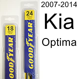 "product image for Kia Optima (2007-2014) Wiper Blade Kit - Set Includes 24"" (Driver Side), 18"" (Passenger Side) (2 Blades Total)"