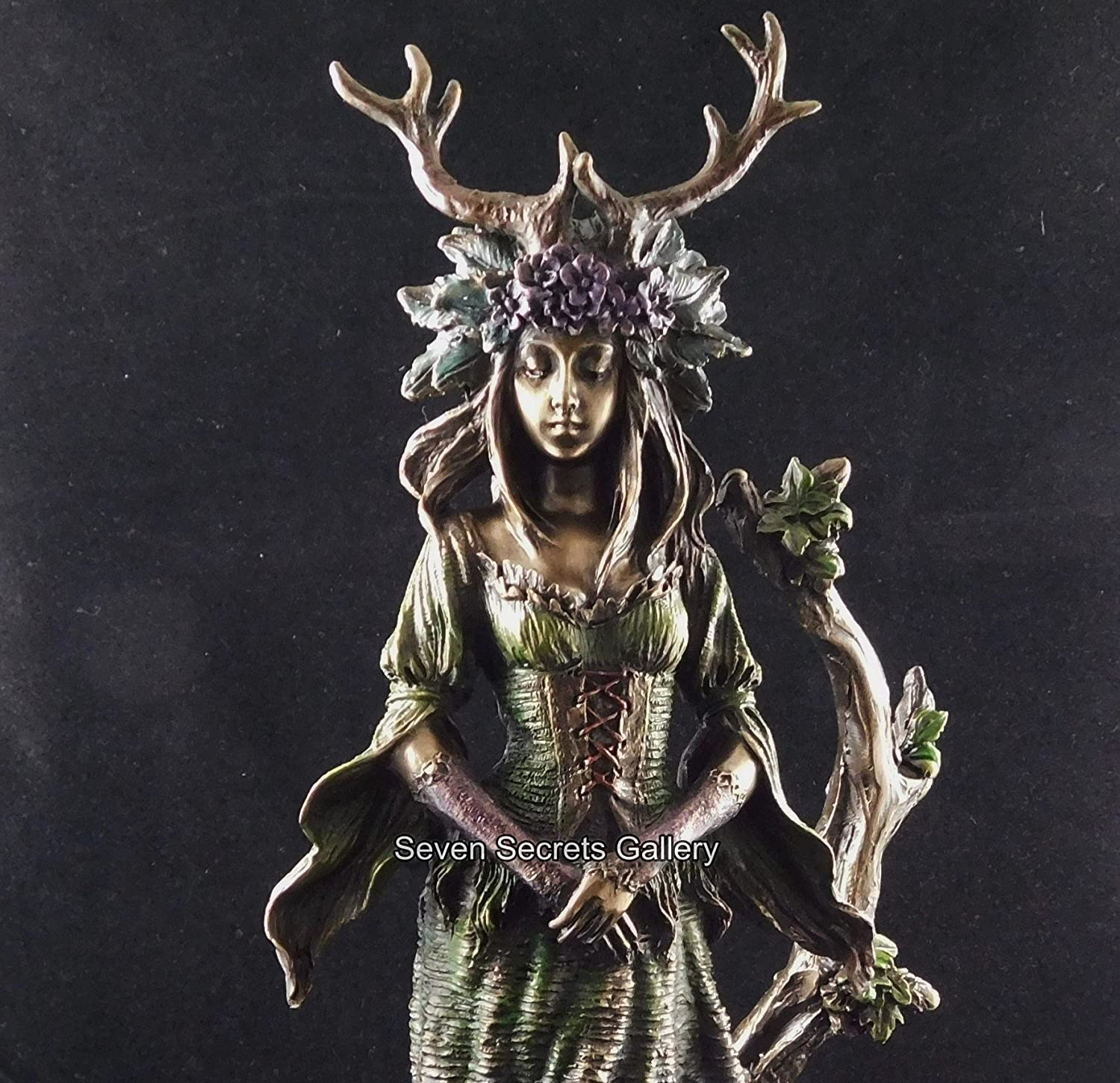 Wiccan Lady of the Forest Bronzed Figurine Witch Statue Witcraft Ornament by Nemesis Now