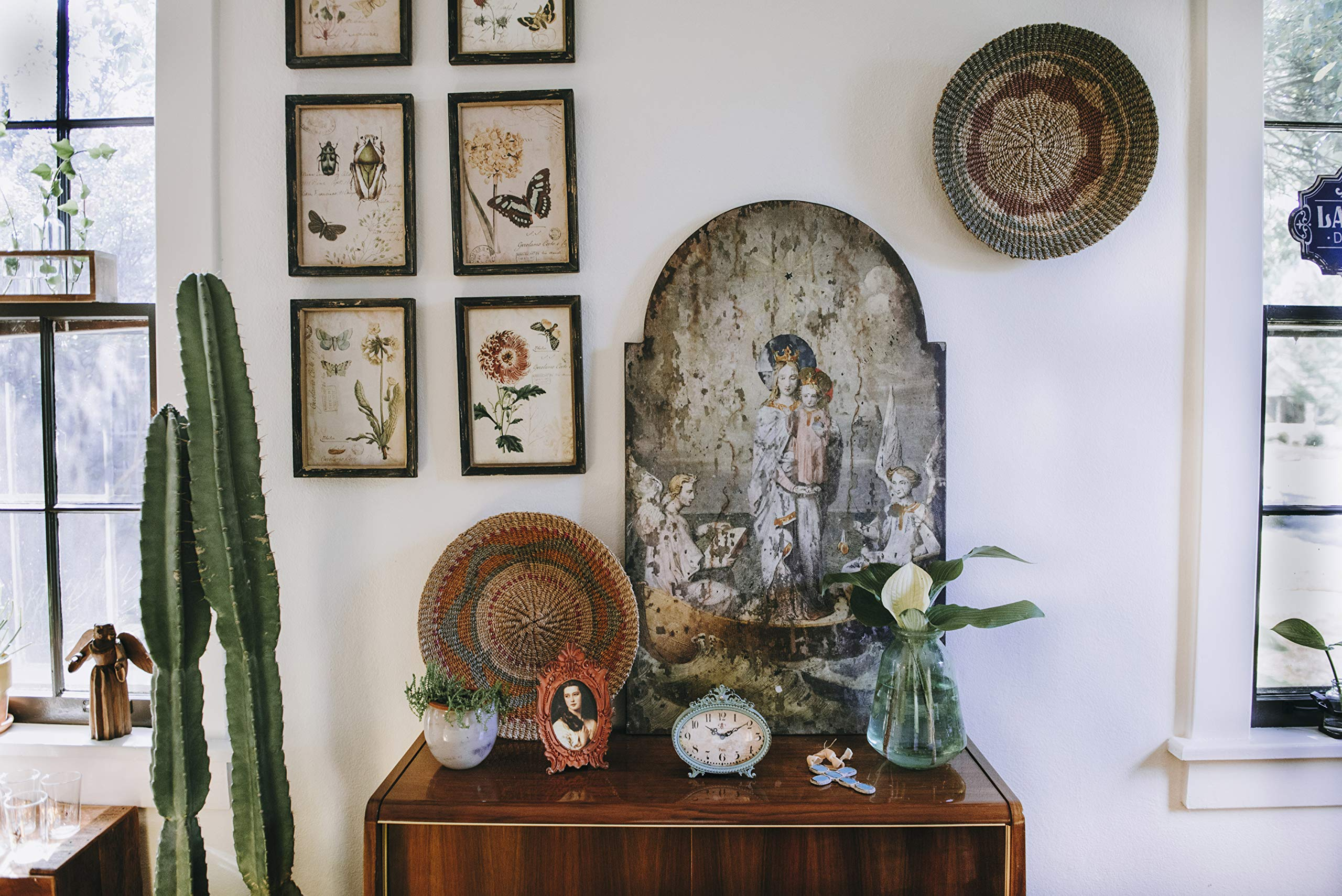 Creative Co-op Vintage Mary & Angels Image on Decorative Wood Wall Décor by Creative Co-op (Image #4)