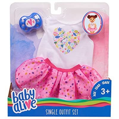 Baby Alive Single Outfit Set - White Tee Pink Tutu: Toys & Games [5Bkhe1801783]