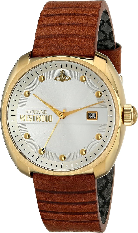 Vivienne Westwood Men s VV080SLTN Bermondsey Analog Display Swiss Quartz Brown Watch