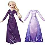 Disney Frozen Arendelle Fashions Elsa Fashion Doll, 2 Outfits, Purple Nightgown and Dress Inspired by Disney's Frozen 2, Toy for Kids 3 Years Old and Up