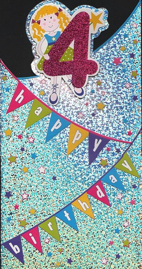 Tarjeta de cumpleaños - 4 Feliz cumpleaños - diseño hembra ...