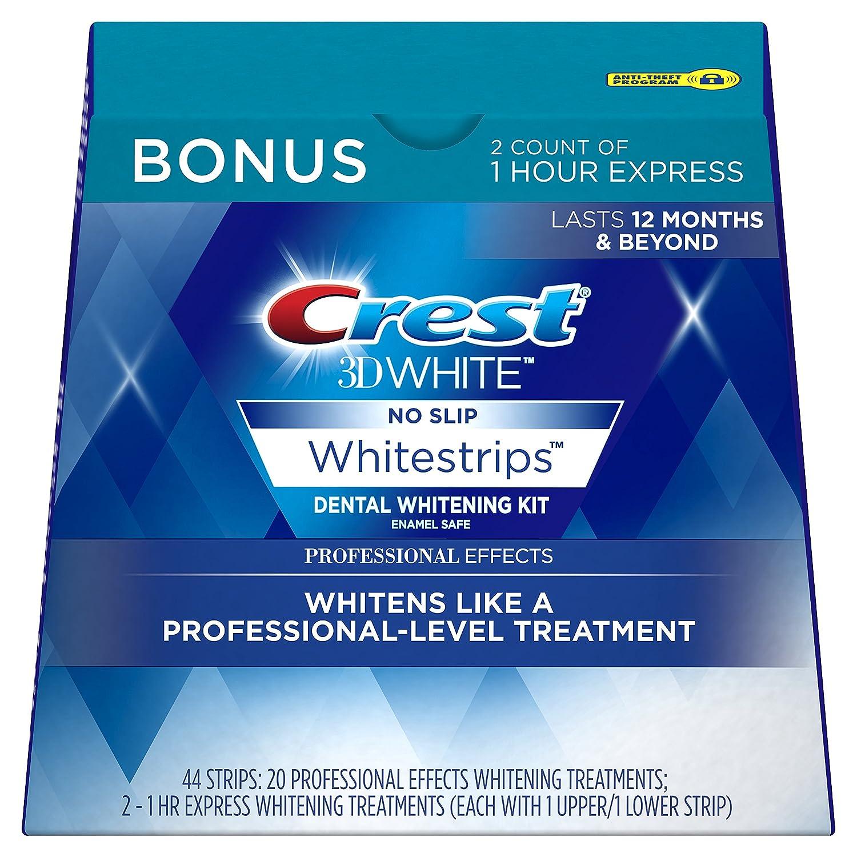 Amazon Crest 3D White Professional Effects Whitestrips Whitening Strips Kit 22 Treatments 20 2 1 Hour Express