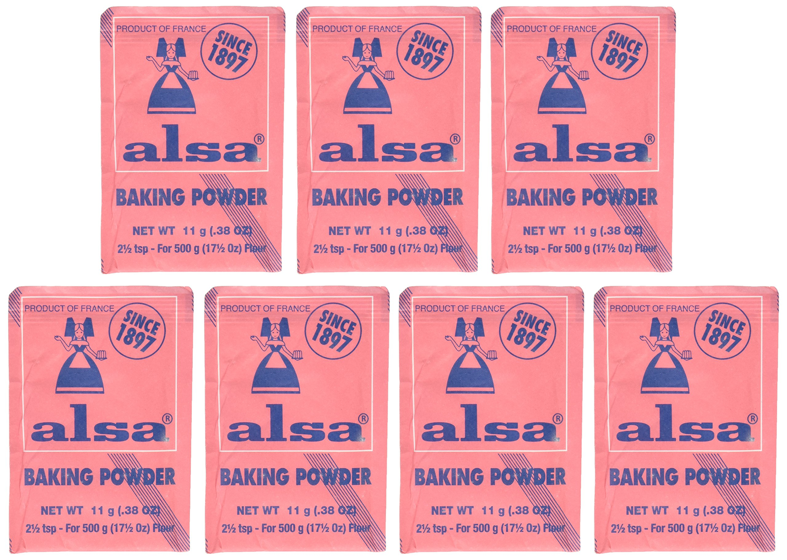 French Baking Powder Alsa 7 pouches(0.38 oz)